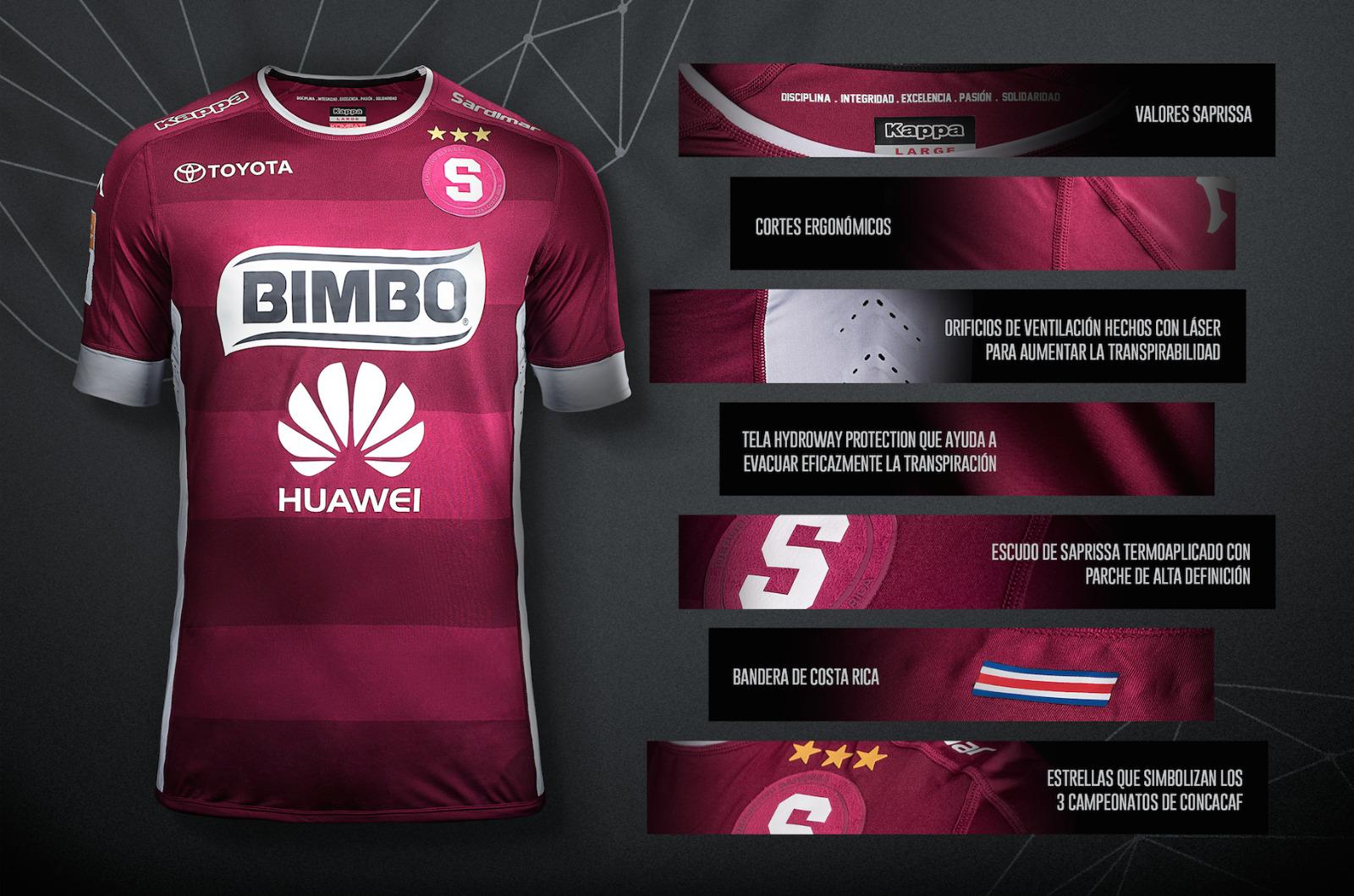 9bc468863192a Los ocho elementos innovadores del nuevo uniforme de Saprissa (VIDEO)